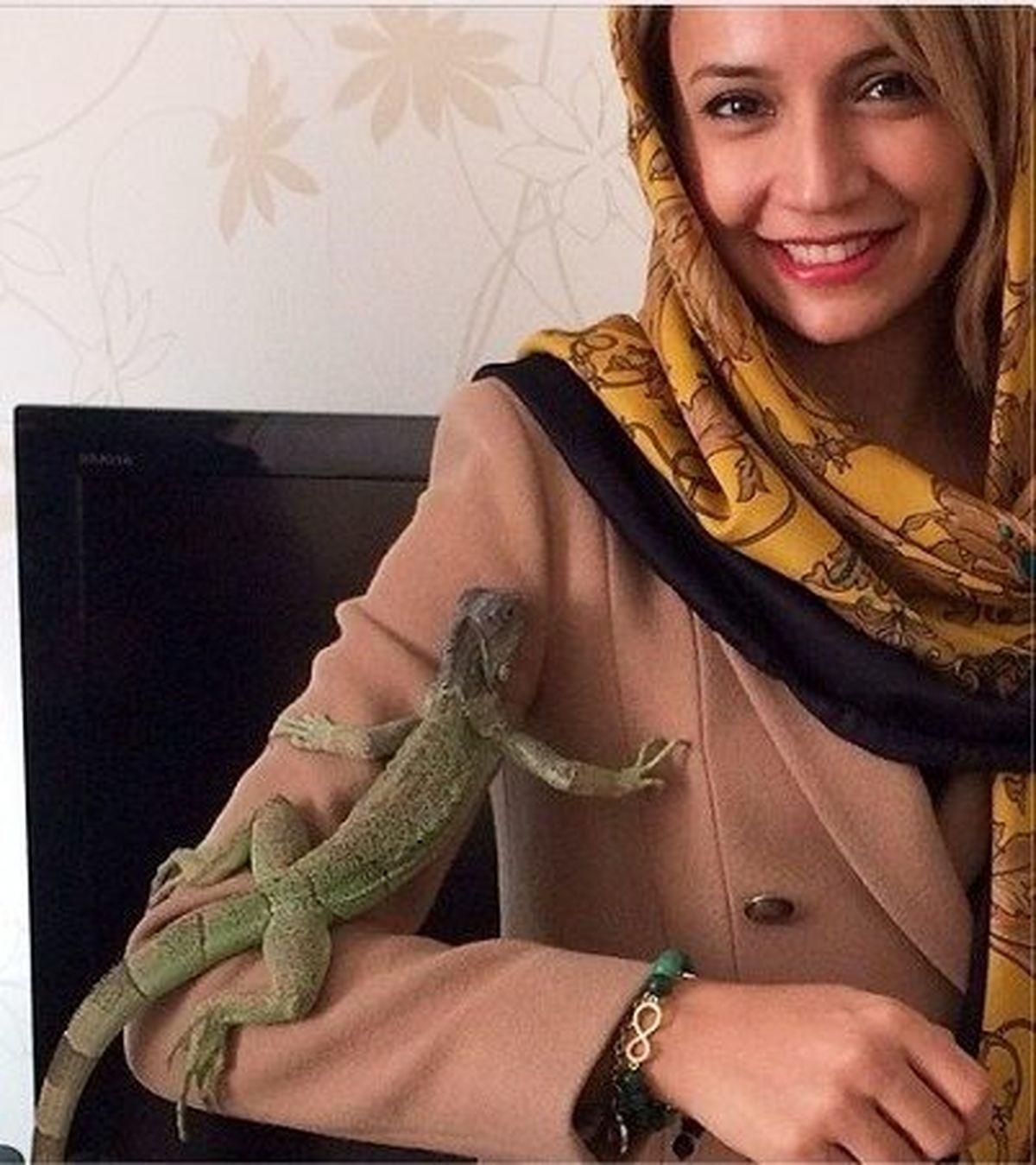 حیوان خانگی عجیب و ترسناک شبنم قلی خانی+عکس