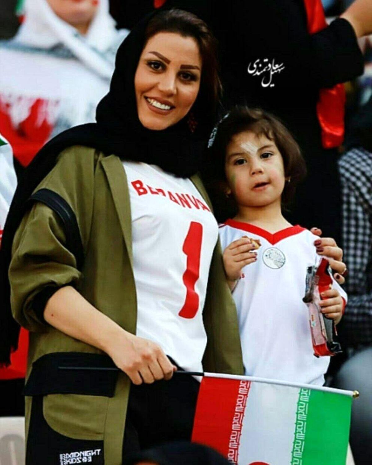 لباس کوتاه همسر علیرضا بیرانوند + عکس