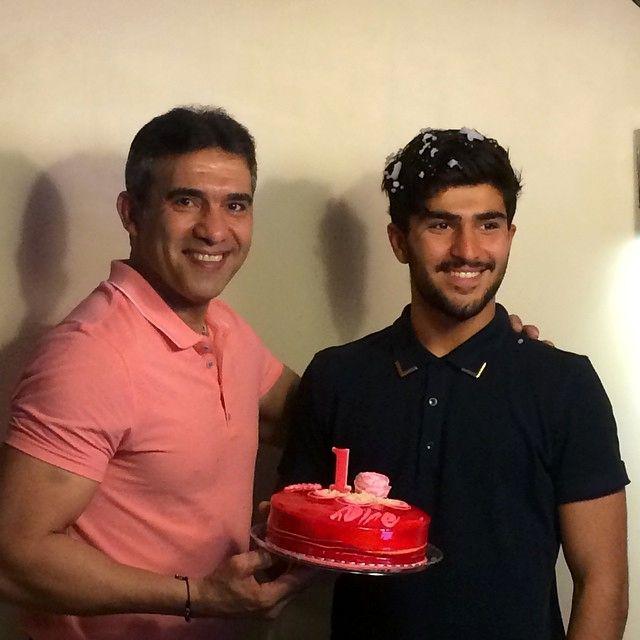 عکس احمدرضا عابدزاده و پسرش امیر