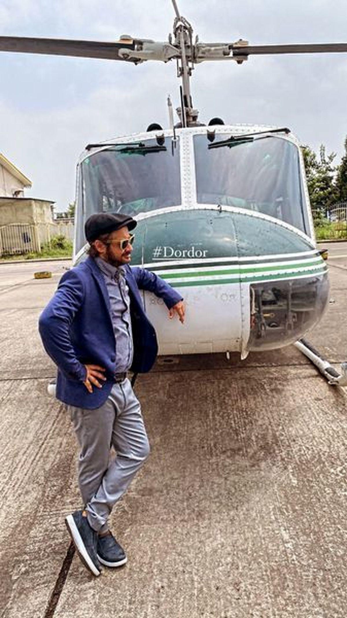 علی صادقی و هلیکوپتر شخصی اش ! +عکس