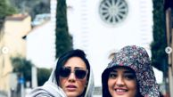 تفریح نرگس محمدی و دوستش در خارج از کشور +عکس