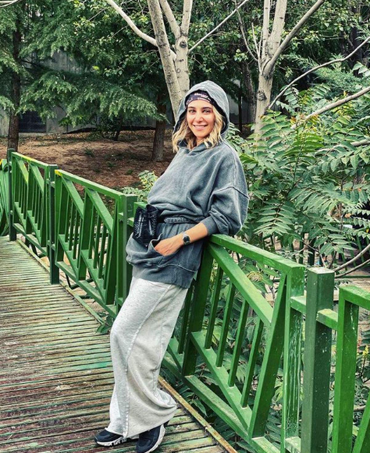 تیپ خفن الناز حبیبی بدون حجاب در هنگام ورزش! +عکس