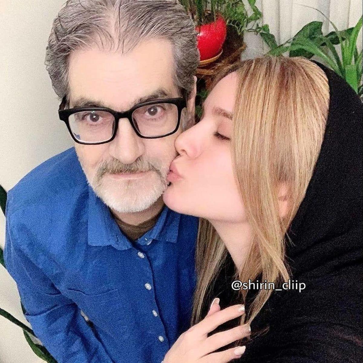 بوسه عاشقانه متین ستوده + عکس