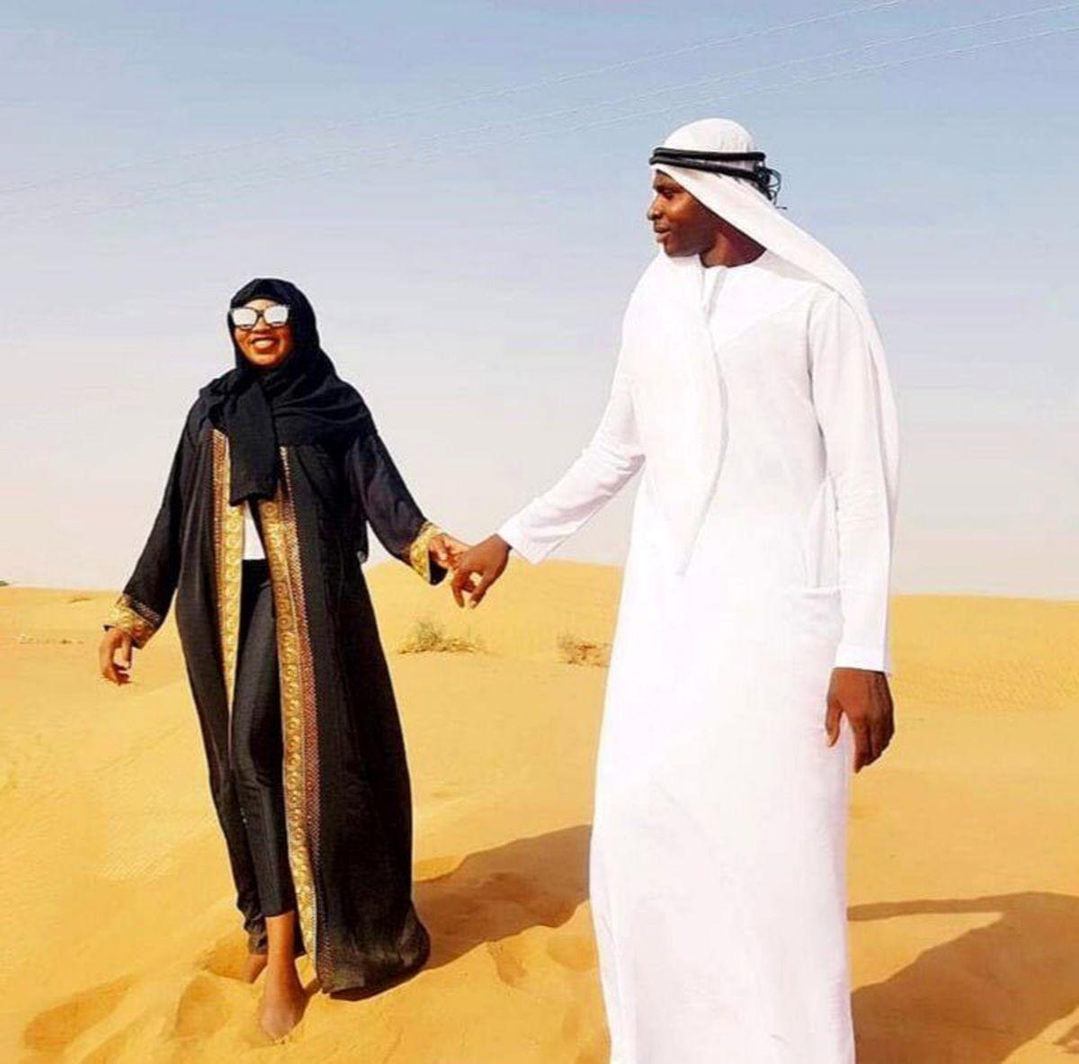 همسر نیمه برهنه شیخ دیاباته + عکس