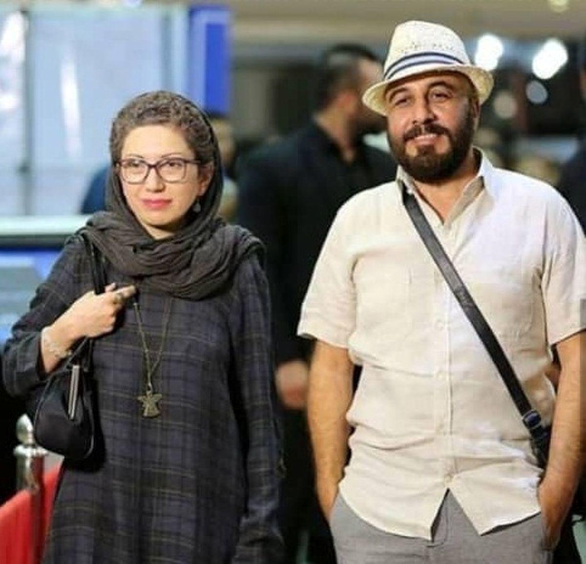 این زن همسر رضا عطاران است؟/ موهای فر و بلوند همسر رضا عطاران + عکس