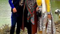 لباس فشن و ناجور همسر علیرضا نیکبخت در کنار مادرش/عکس