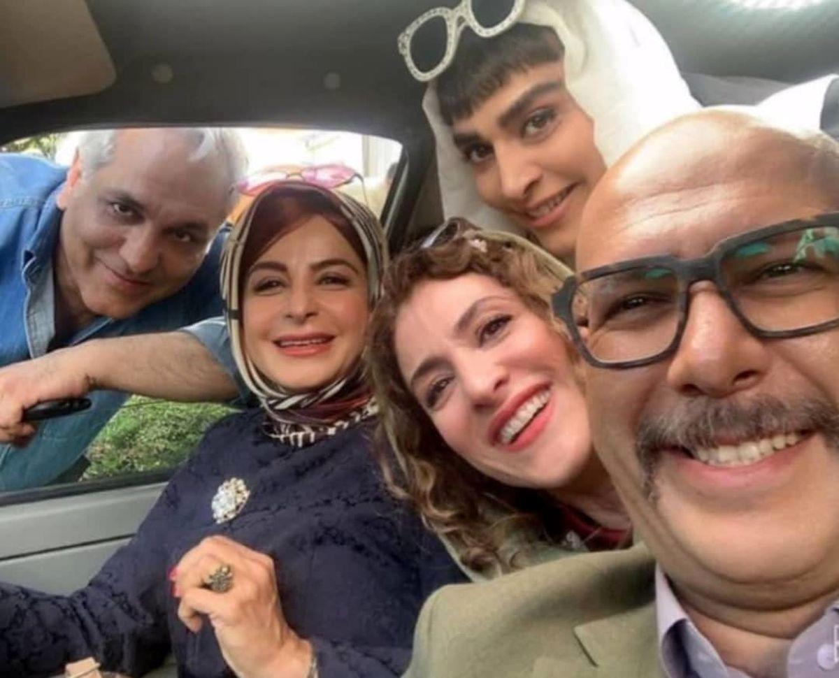 عکس صمیمانه مهران مدیری با زنان بازیگر !