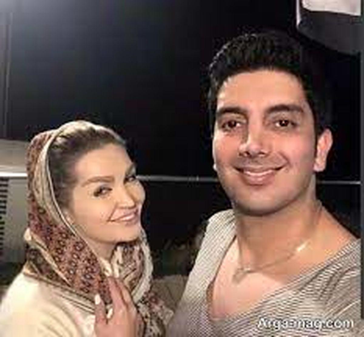 عکس های عاشقانه فرزاد فرزین و همسر جوانش + عکس