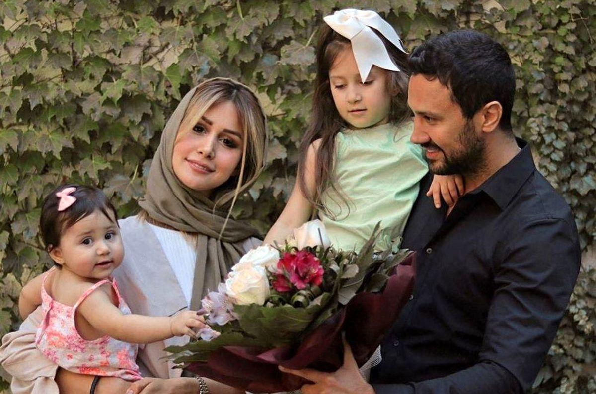 حرکات نامتعارف همسر شاهرخ استخری در خیابان + عکس