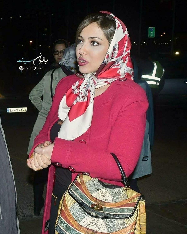 لباس تنگ و یقه باز لیلا اوتادی+عکس