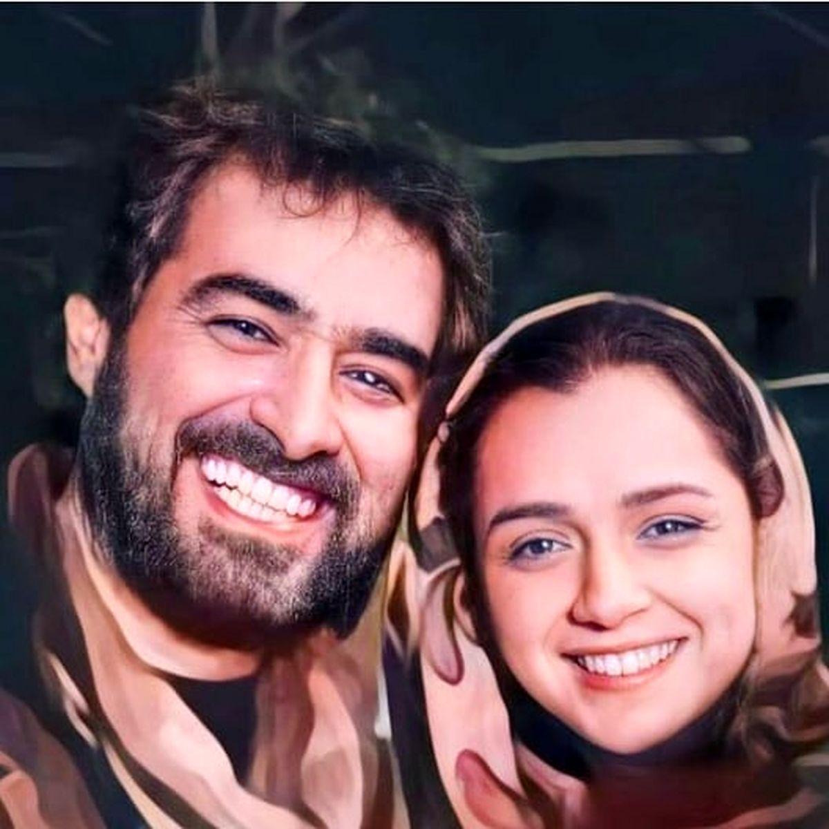ژستِ ناجور شهاب حسینی با خانم بازیگر!+عکس