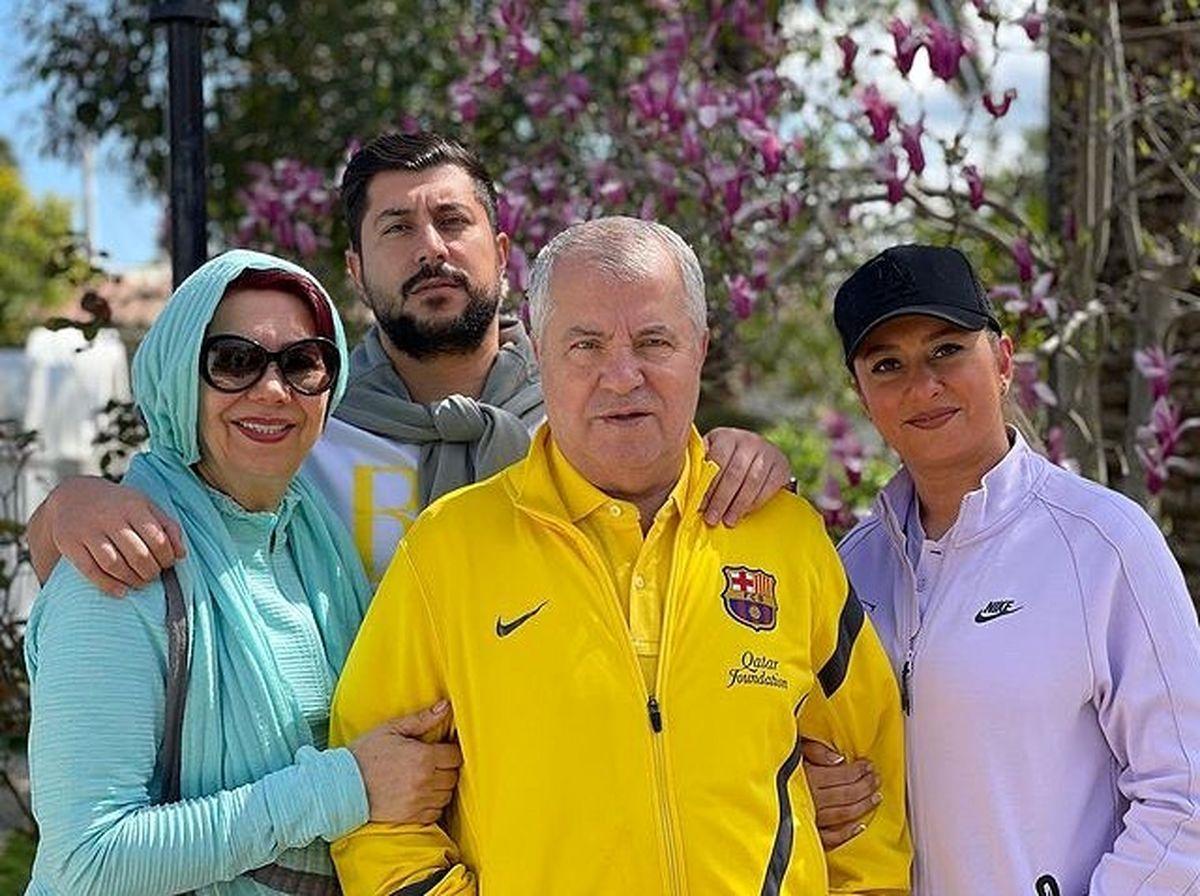 همسر بی حجاب و فشن علی پروین + عکس