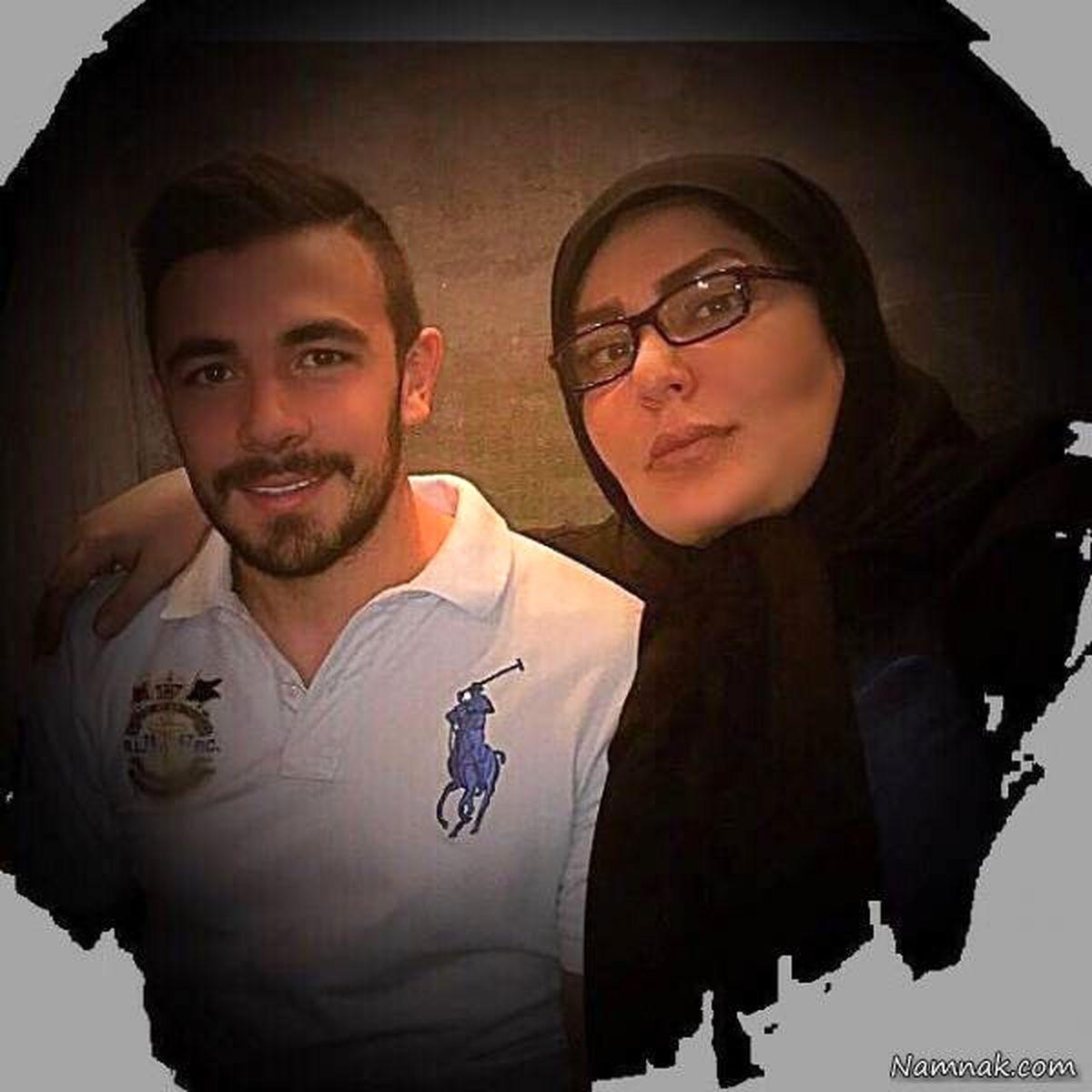 همسر امیر قلعه نویی در آغوشش+ عکس