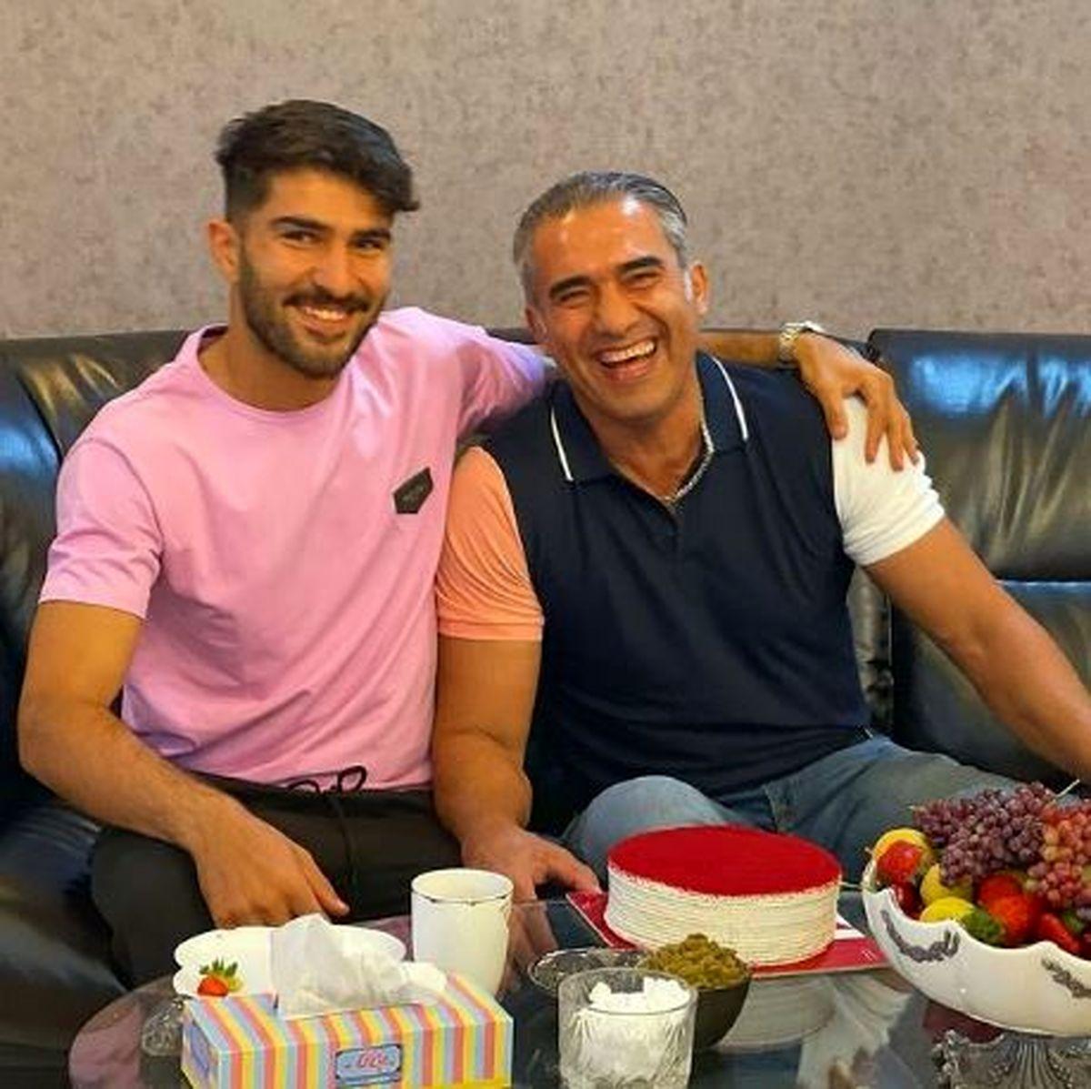 جشن تولد احمدرضا عابدزاده در خانه+عکس