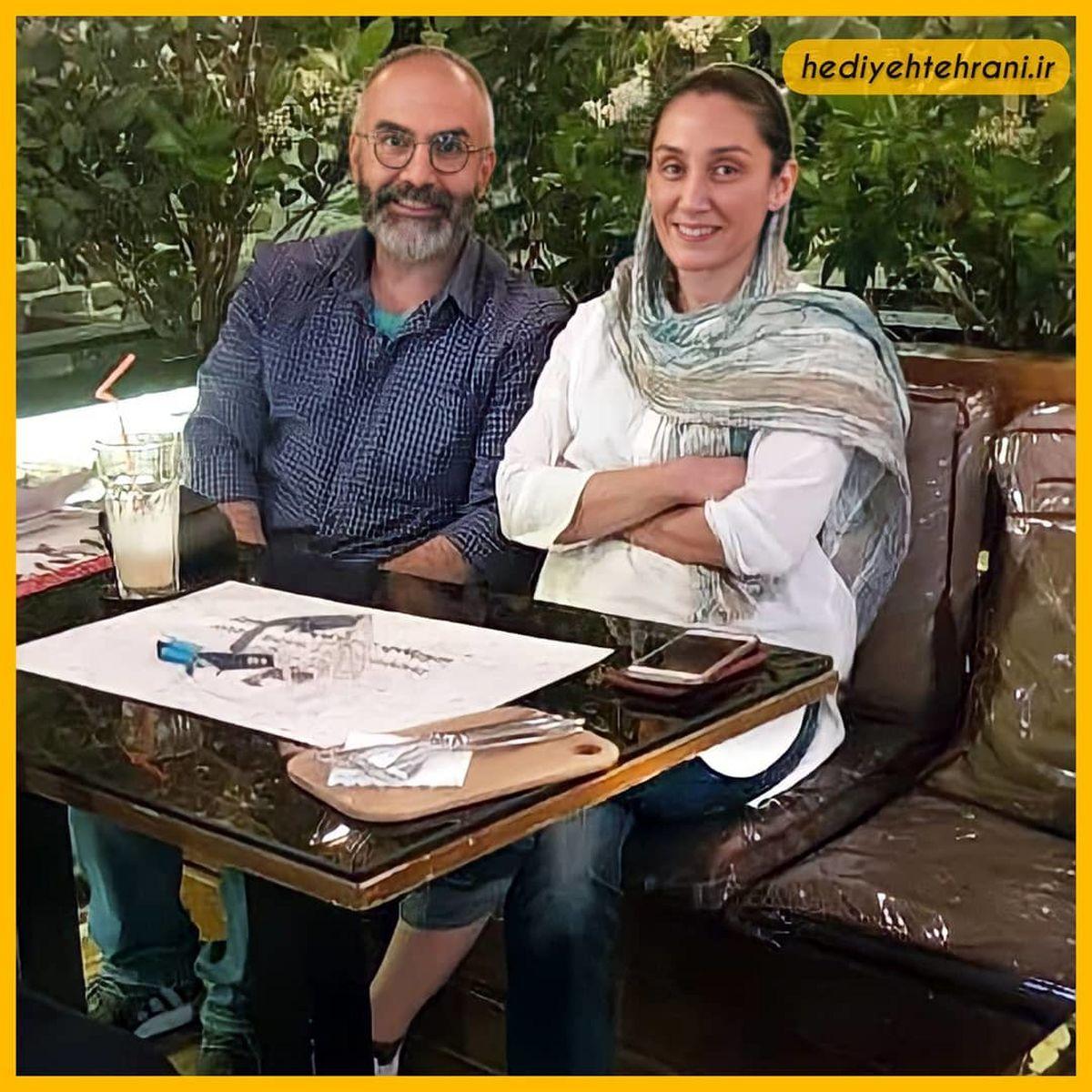 شلوار فوق کوتاه و پاهای برهنه هدیه تهرانی در کافه +عکس
