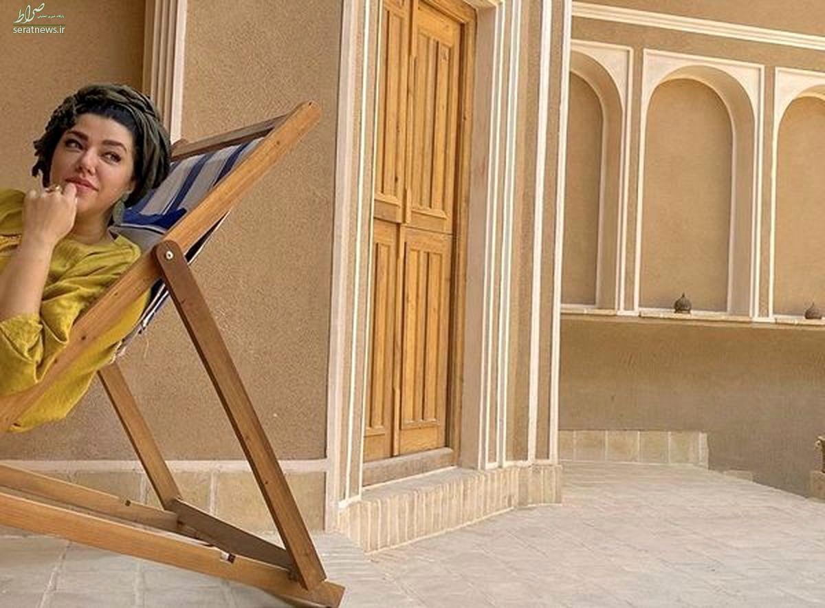 کچل کردن موهای همسر شهاب حسینی در آرایشگاه + عکس