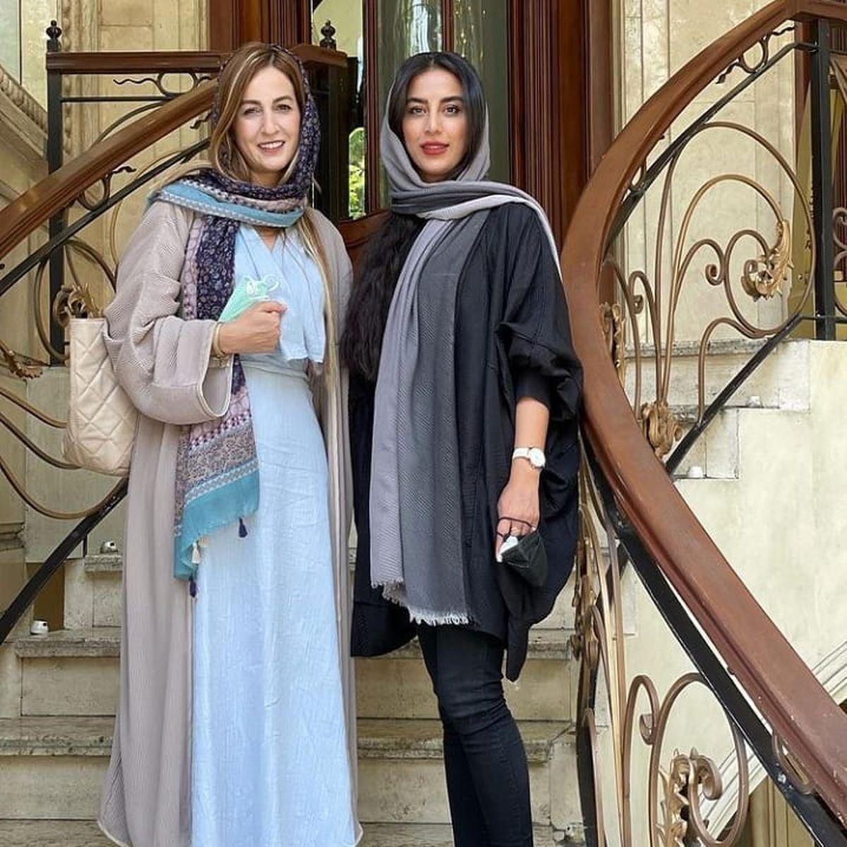 پیراهن مدل دار و یقه باز شقایق دهقان در خیابان + عکس