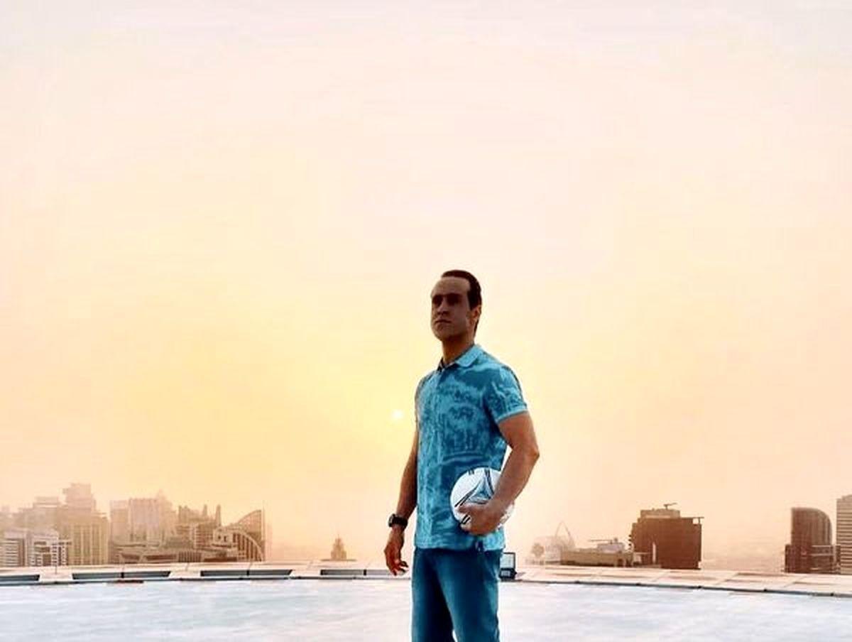 لاکچری بازی علی کریمی در دبی /عکس