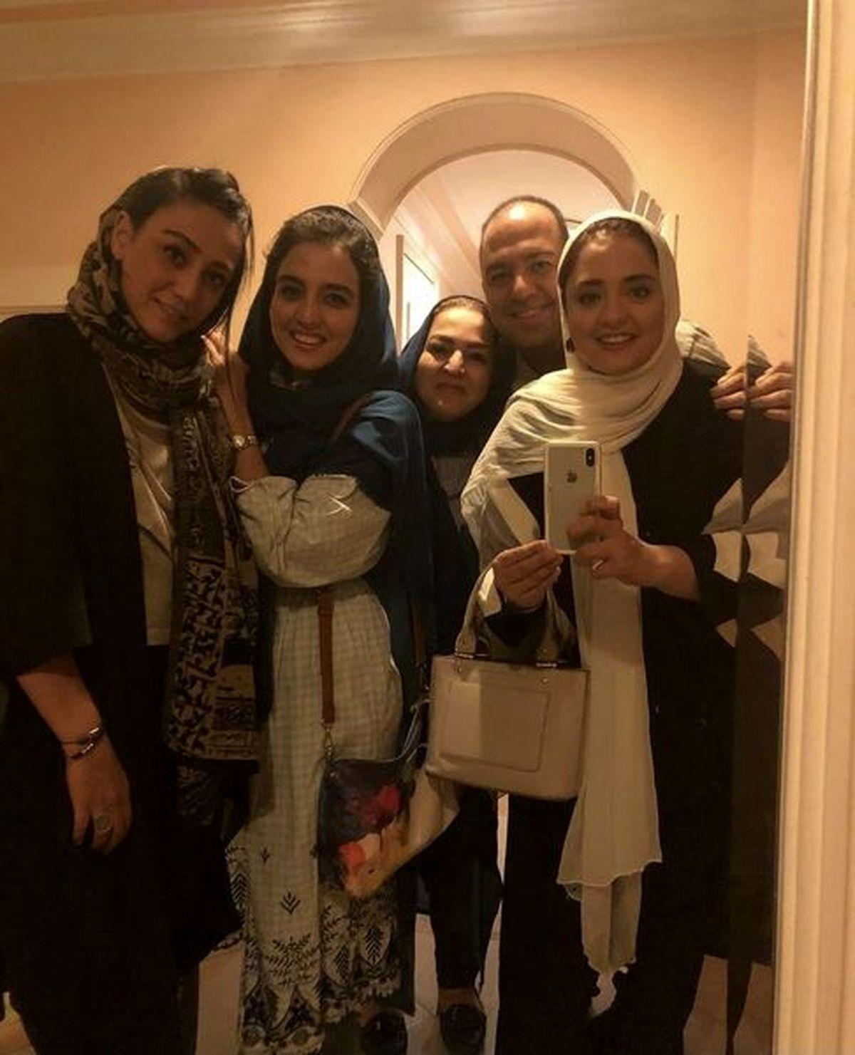 نرگس محمدی و خانواده اش در خانه لوکسش +عکس