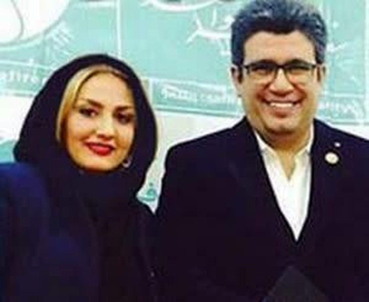 همسر مو بلوند و معروف رضا رشیدپور + عکس
