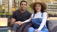 صورت عجیبِ همسر سپهر حیدری بعد از جراحی/ لباس های ناجور همسر سپهر حیدری در دبی/عکس