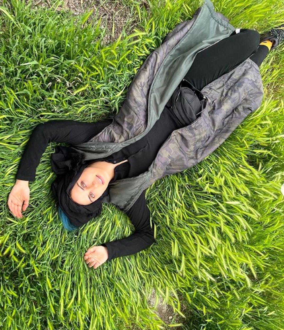 حرکت ناجور الناز شاکردوست بدون حجاب +عکس