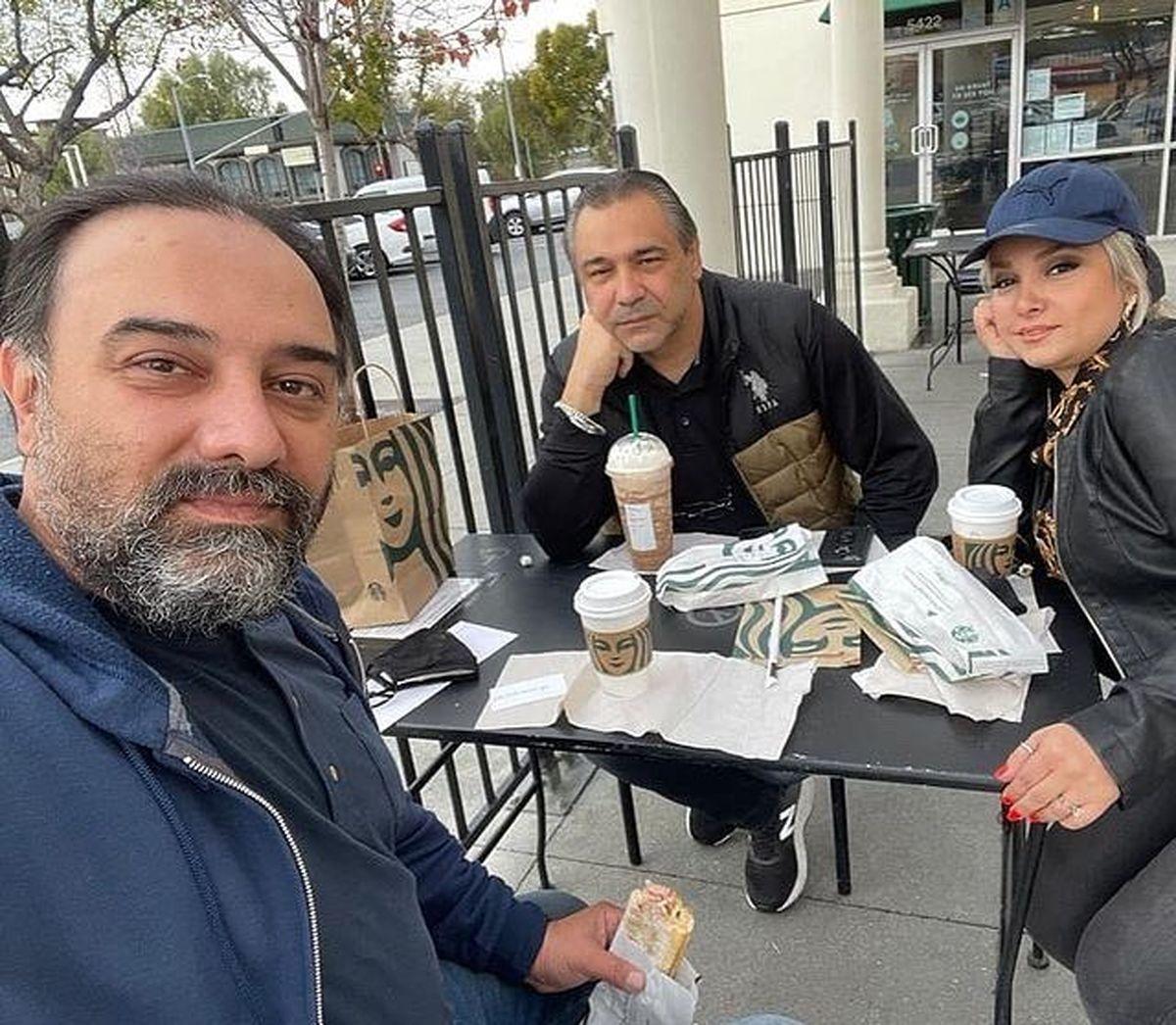 همسر بی حجاب برزو ارجمند در لس آنجلس !+عکس