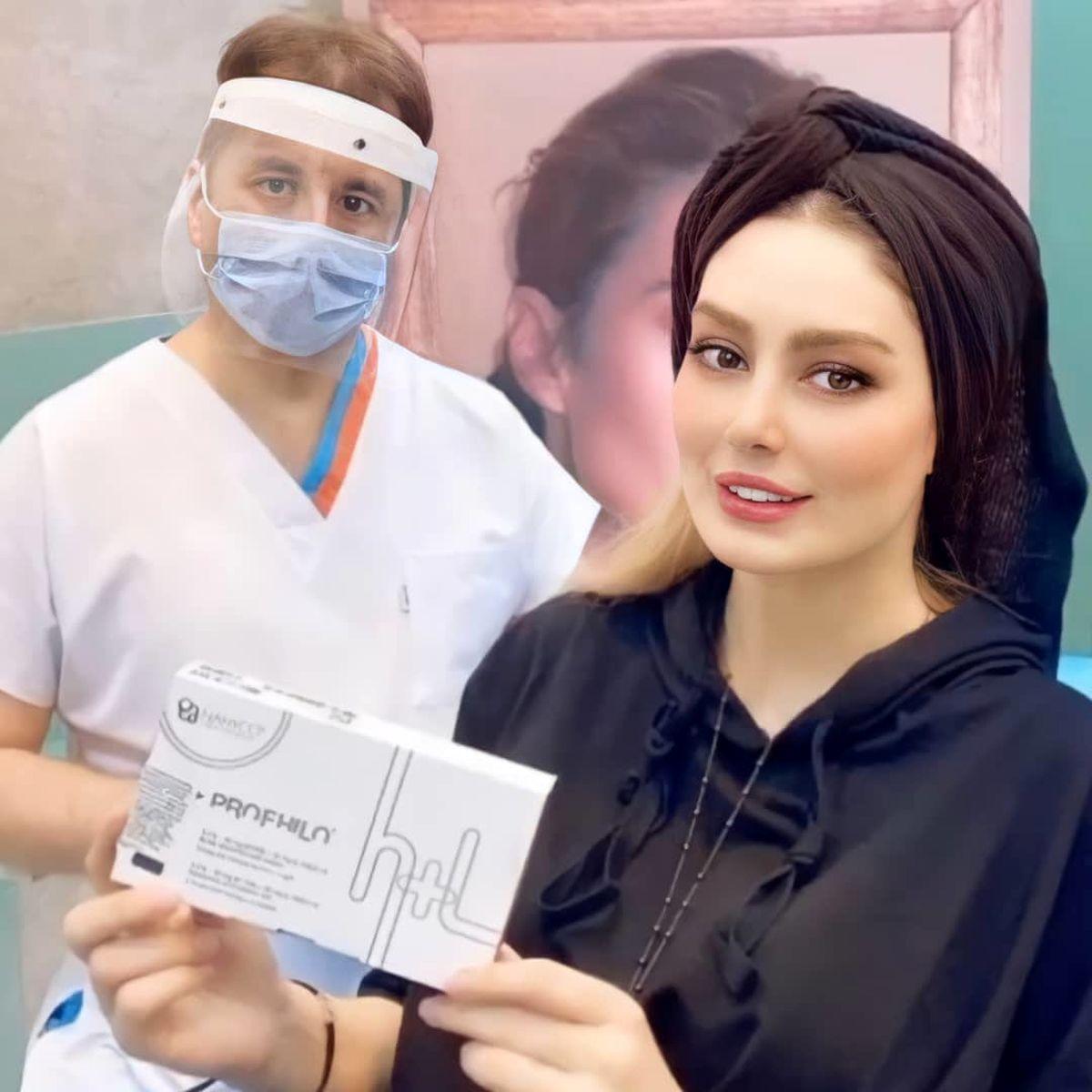 تبلیغ سحر قریشی در مطب آقای دکتر با لباسِ یقه باز ! + عکس