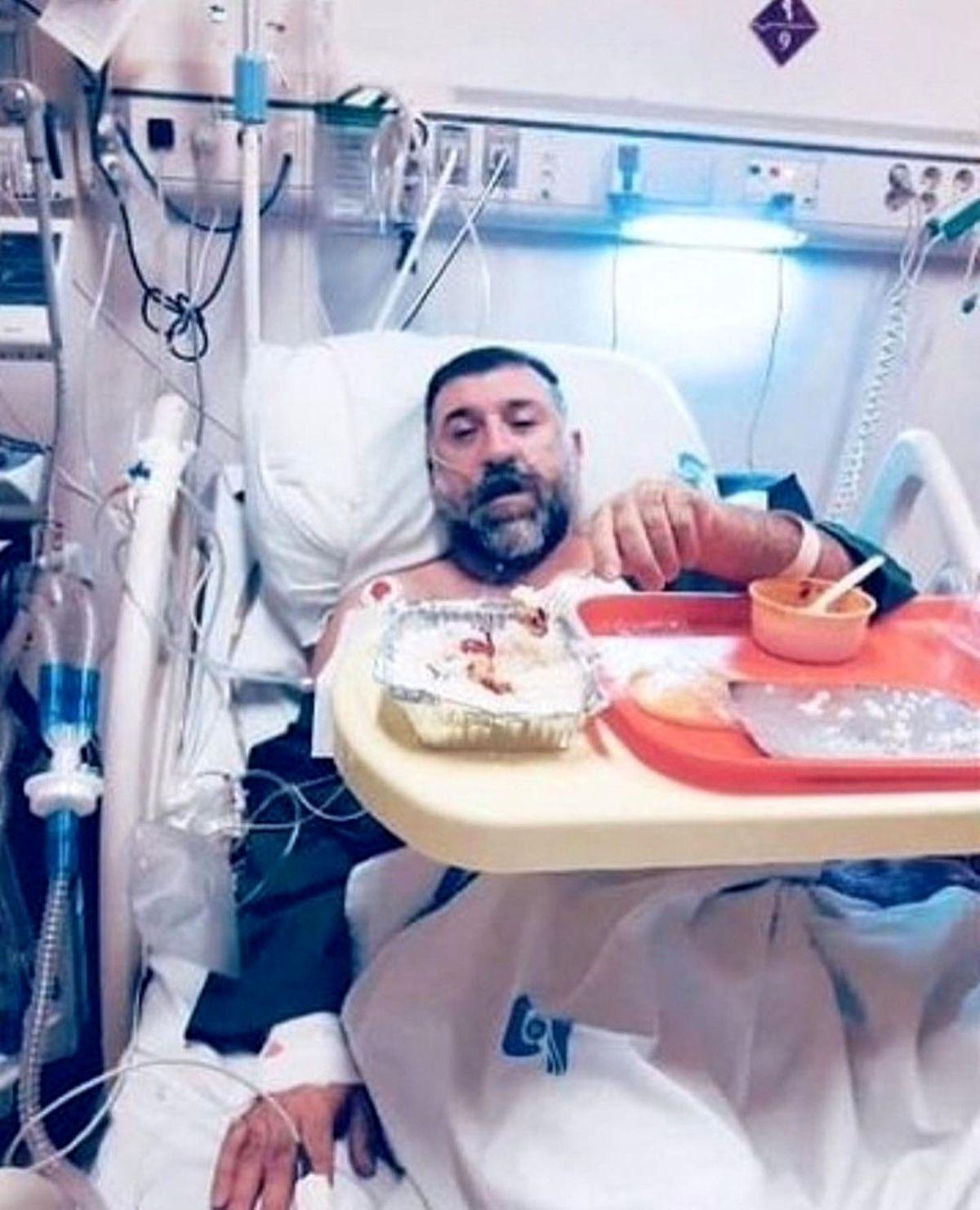 عکسی دیده نشده از علی انصاریان ICU بیمارستان