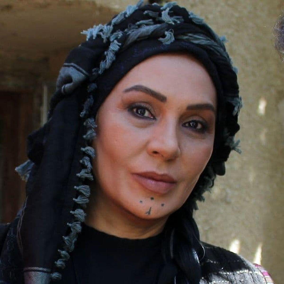 نسرین مقانلو با آرایش عربی ! +عکس