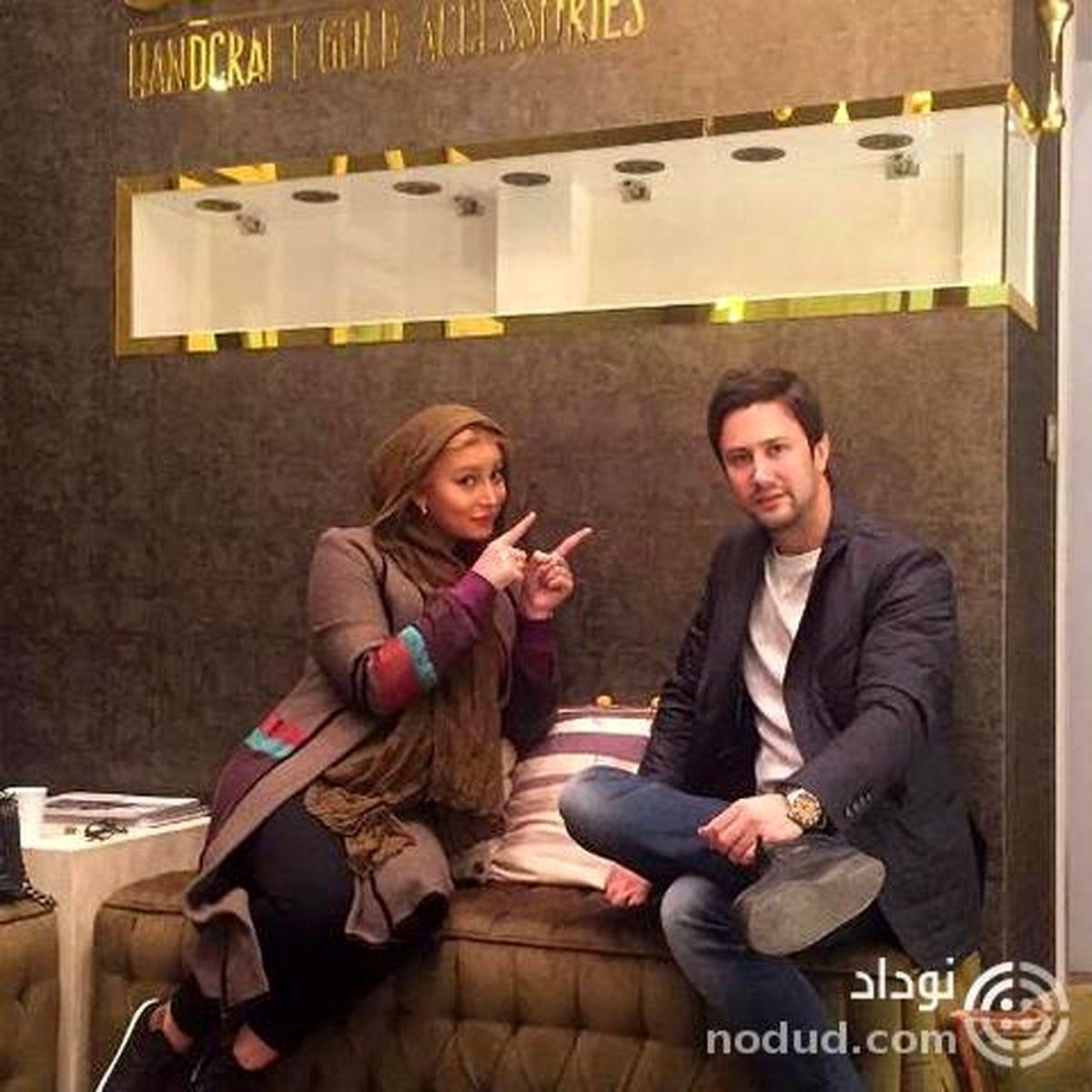فریبا نادری با شلوار کوتاه در آغوش شاهرخ استخری + عکس