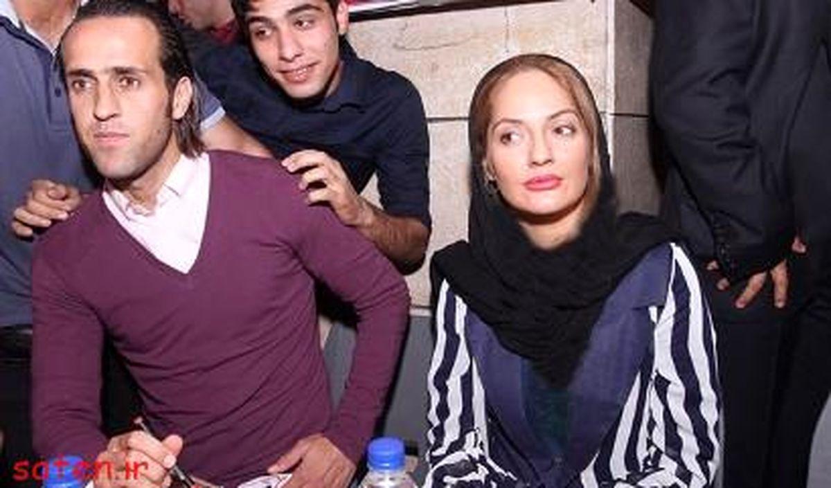 علی کریمی و همسرش سحر داوری + عکس