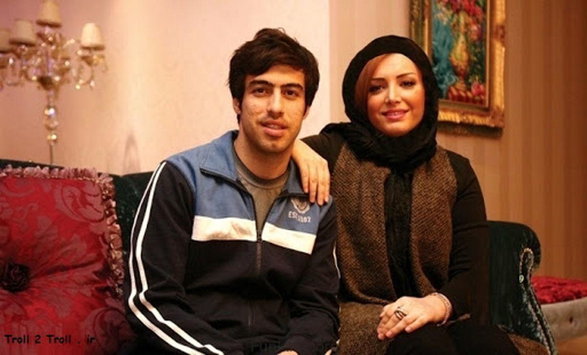 خسرو حیدری در آغوش همسرش + عکس