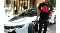خودروی سوپر لاکچری محمدرضا گلزار در خیابان های تهران + عکس