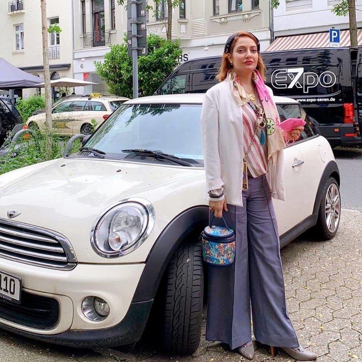 مهناز افشار در سوئد مدل تبلیغات شد! + عکس