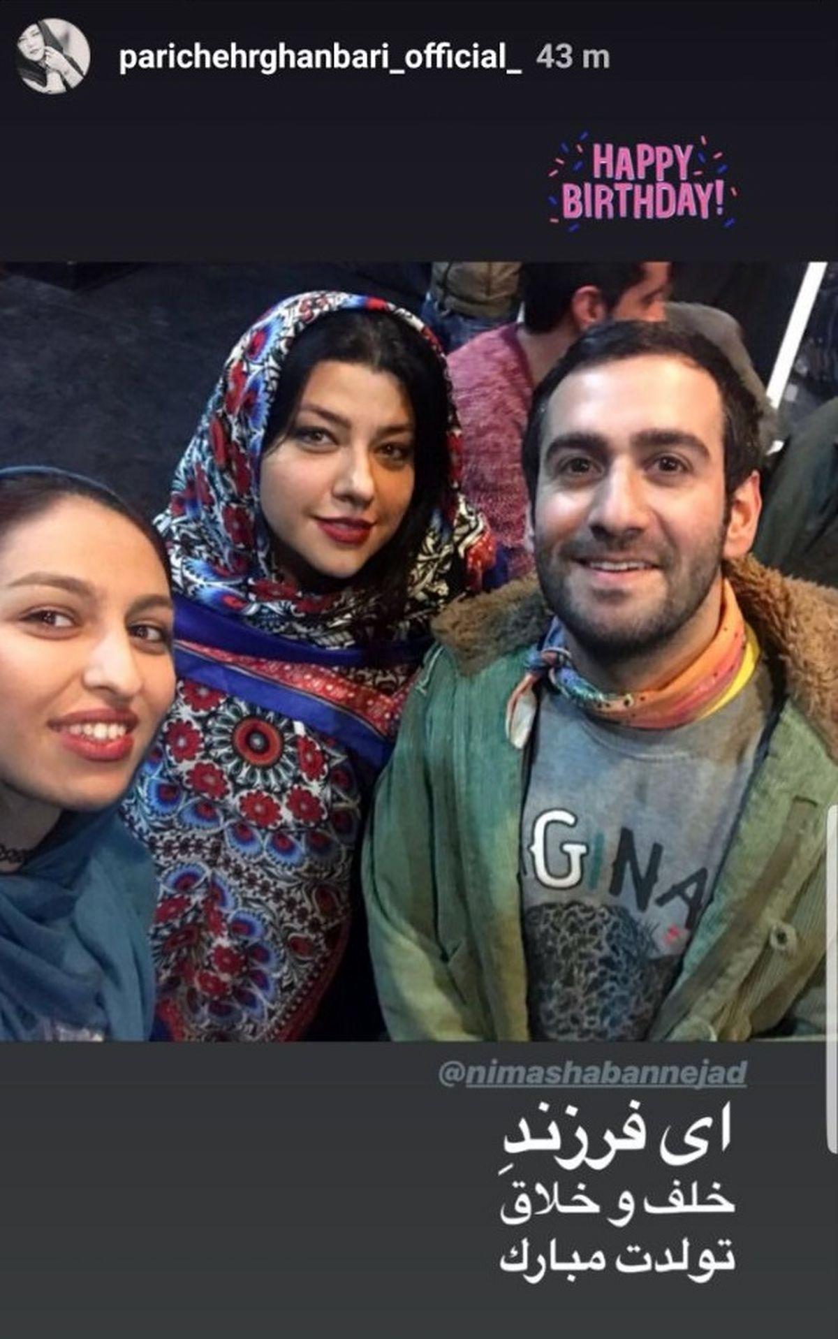 همسر شهاب حسینی در آغوش یک پسر جوان و معروف + عکس