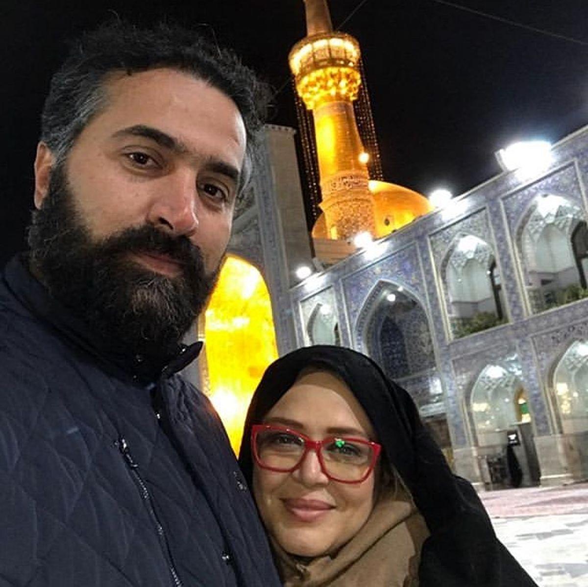 عکس عاشقانه بهاره رهنما با حاجی در حرم امام رضا